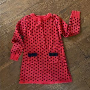 Red and black sweater dress, 3T